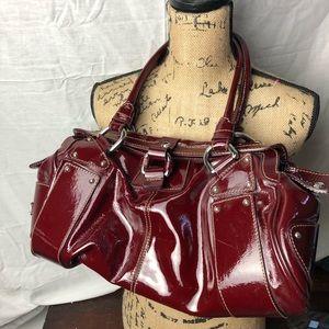 🍎Nicoli Genuine Italian Leather Red Patent Bag🍎